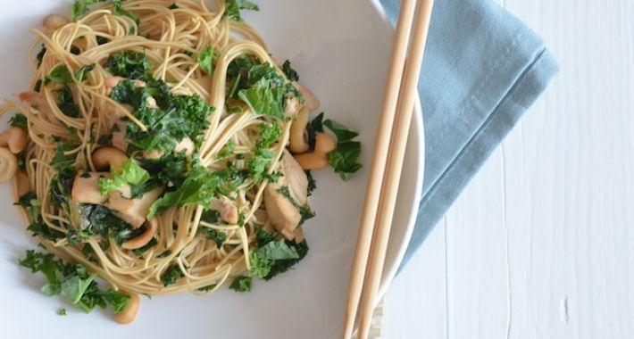 Fresh & easy: noodles met boerenkool