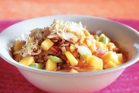 Risottorijst met kip en mango