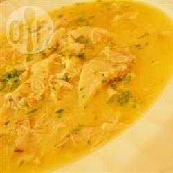 Romige kippensoep met knoedels recept