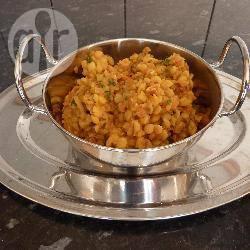 Dal (gele spliterwten met indiase kruiden) recept
