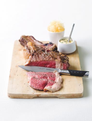Recept 'steak bearnaise met stro-aardappelen'