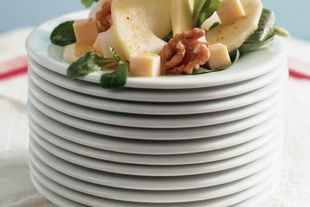 Salade met appel en abdijkaas