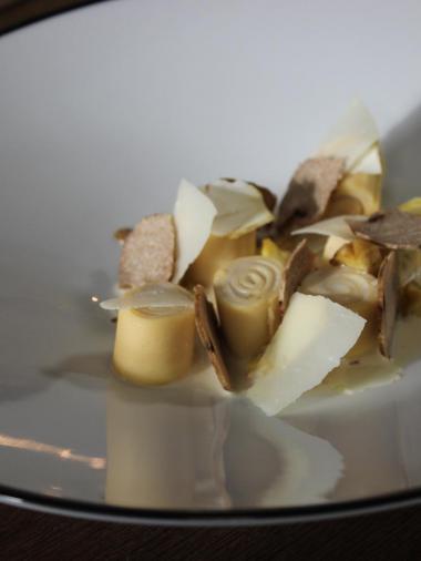 Recept 'pasta met verjus, truffel en kastanjes'