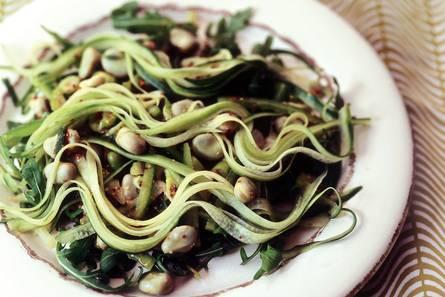 Salade met tuinbonen