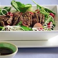 Japanse biefstuksalade recept