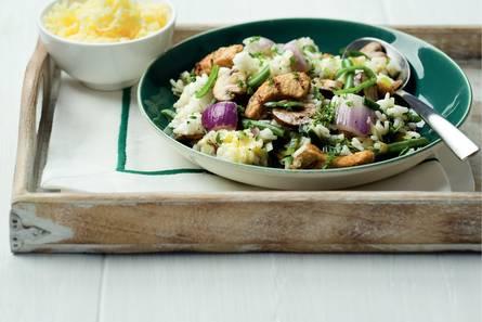 Vegetarische risotto met romige groenten
