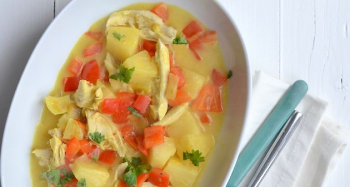 Kip kerrie met ananas 1