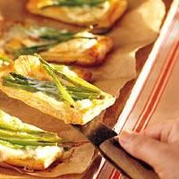 Brietaartjes met groene aspergetips recept