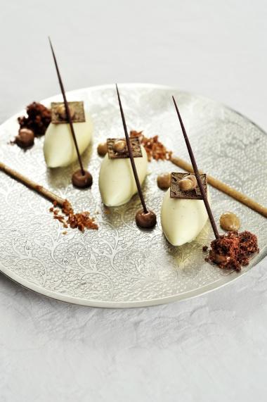 Recept 'mascarponemousse met koffiecrunch en chocolade'