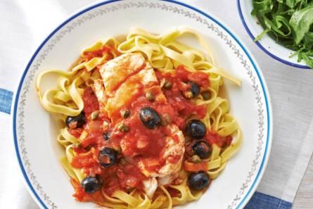 Italiaanse vis met kappertjes