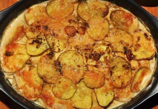 Kool- en aardappelgratin met kaas recept