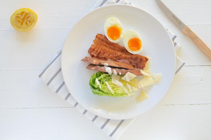 Caesar salade met bacon