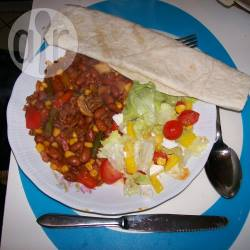 Chili con carne met wraps recept