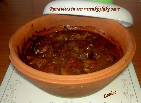 Rundvlees in een verrukkelijke saus ( slowcook) recept