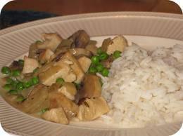 Kip en champignons in kerriesaus van lia recept