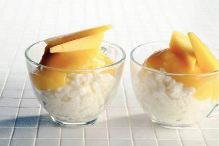 Rijstepap met mango