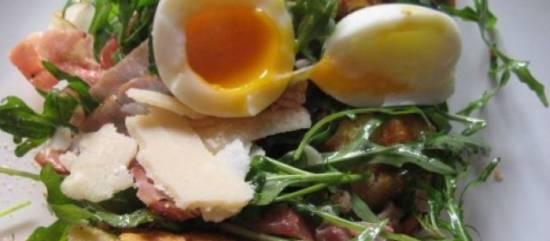 Rucola ciabatta serrano salade recept