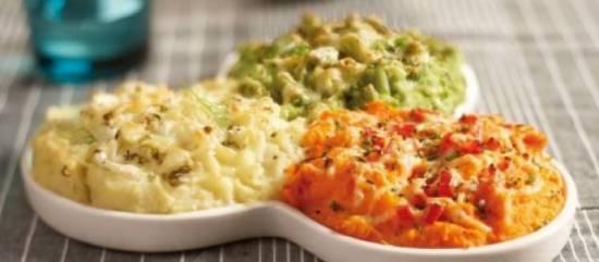 Drie groenten puree gegratineerd in de oven recept