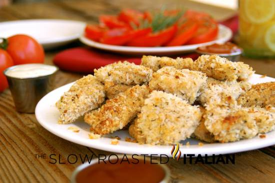 Homestyle baked italian chicken nuggets recept
