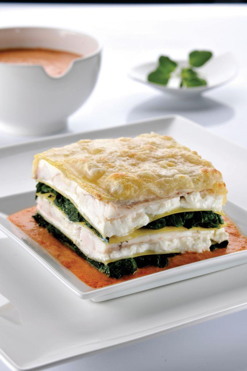 Recept 'lasagne met rode poon, ricotta en spinazie'