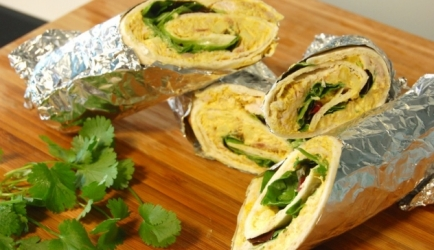 Wrap met lichte kip-curry recept