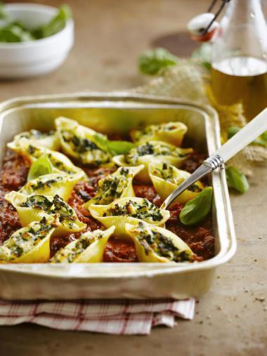 Recept 'gevulde pasta met vis'