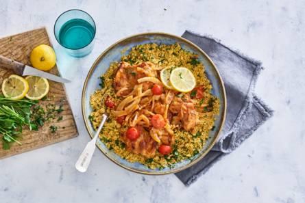 Kipdijstoof met couscous