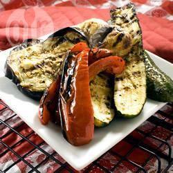 Gemarineerde groenten van de barbecue recept