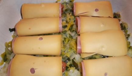 Heerlijke gehakt rolletjes met kaas/ham prei uit oven recept ...
