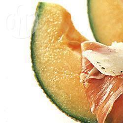Meloen met rauwe ham en parmezaanse kaas recept
