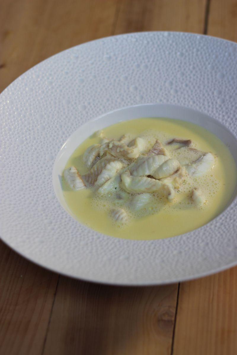 Recept 'visroomsoep met tongfilets'