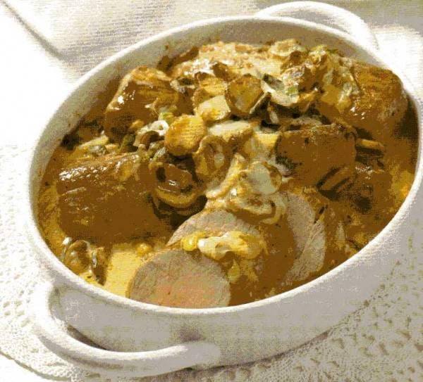 Varkenshaas, gebakken met champignons recept