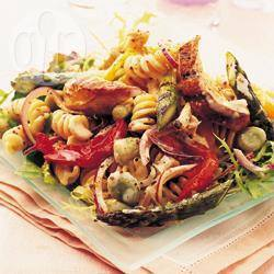Zomerse kip-pastasalade recept