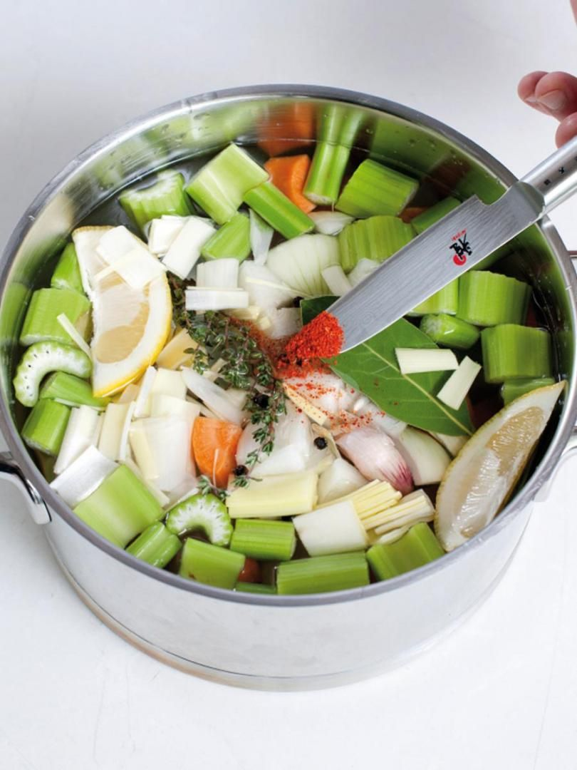 Recept 'court bouillon'