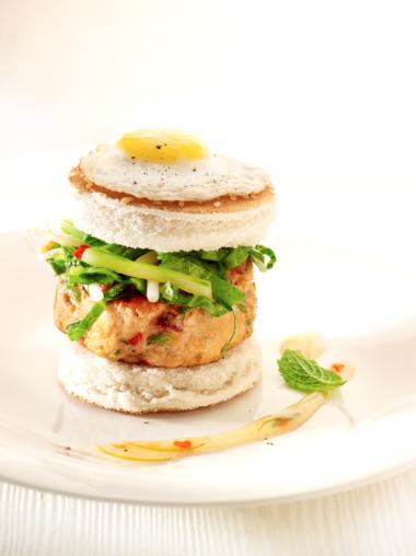 Recept 'thaise kipburger met munt'