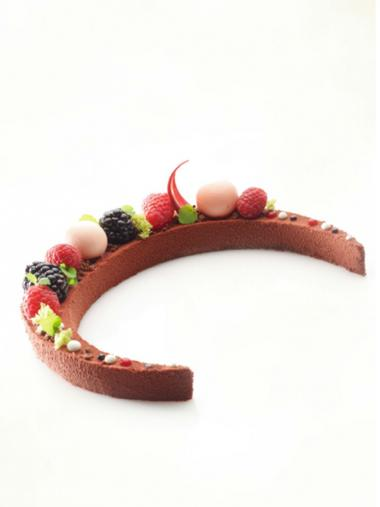 Recept 'chocoladebiscuit met frambozen'