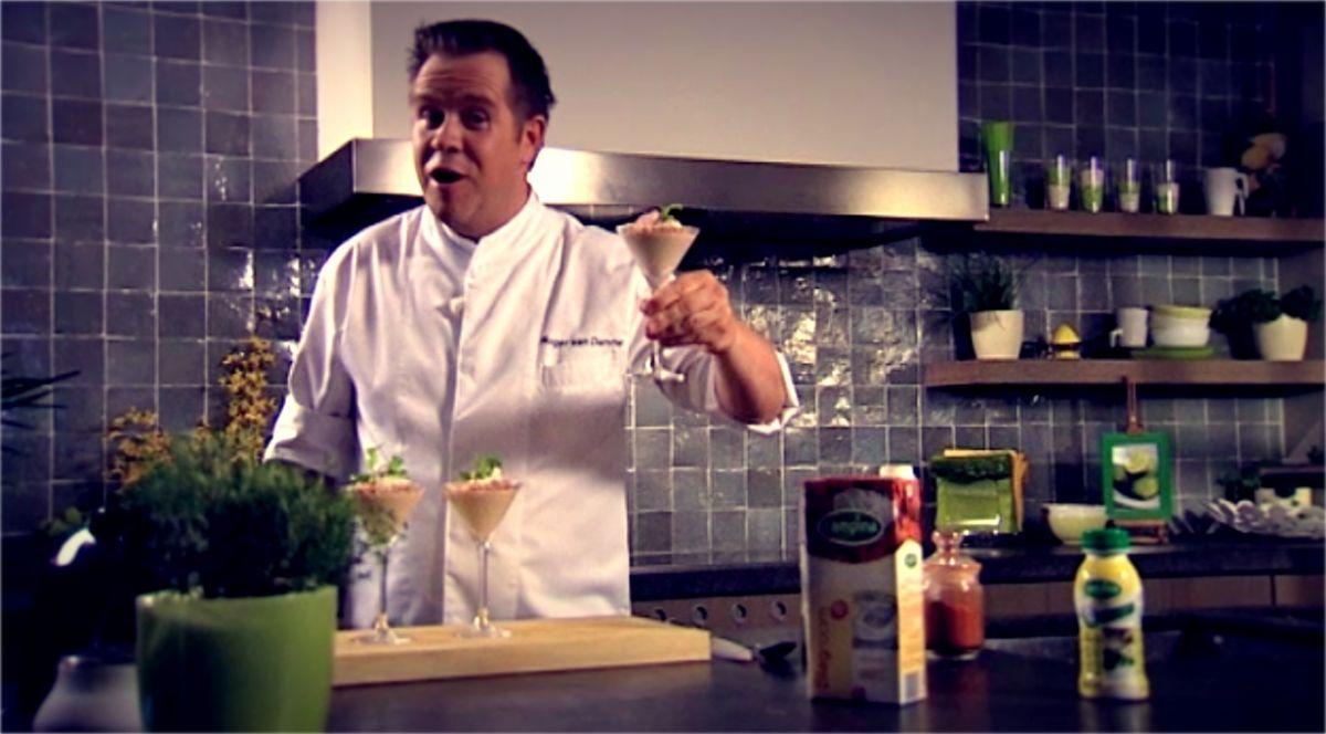 Recept 'hammousse met mosterddressing'