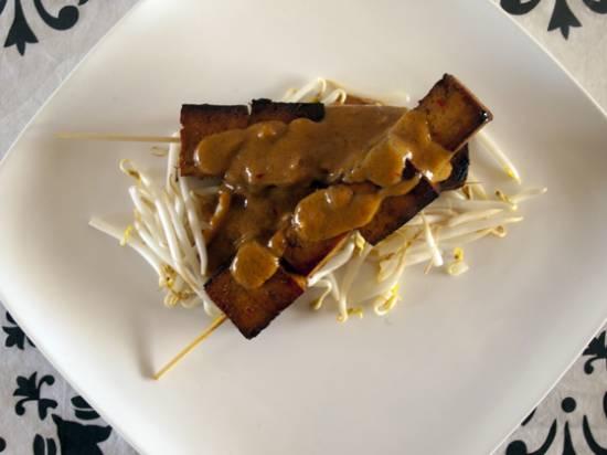 Tofu saté recept