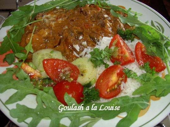 Goulash a la louise  slowcooker oven of gas recept