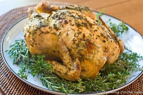 Gevulde kip met kruiden recept