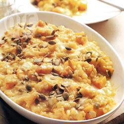 Pompoenrisotto met maïs recept
