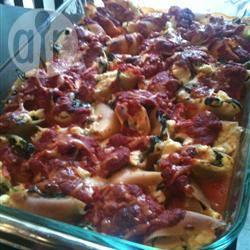 Vegetarische gevulde pastaschelpen recept