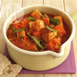 Zoete-aardappelcurry met panir recept
