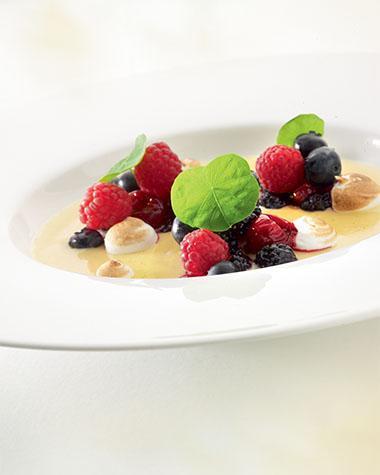 Recept 'crème brulée met compote van rode vruchten'