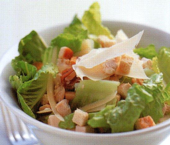Caesar-salade met kip recept
