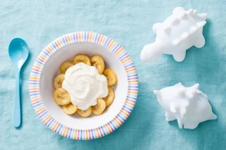 Opperdepop: gebakken banaan met vanillekwark 10-12 mnd ...