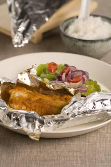 Vis met ketjap in aluminiumfolie recept