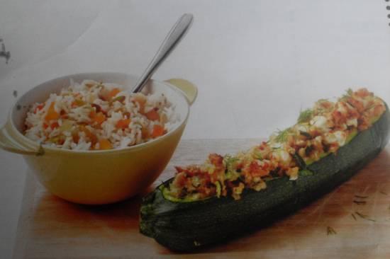 Gevulde courgettes met noten en feta recept