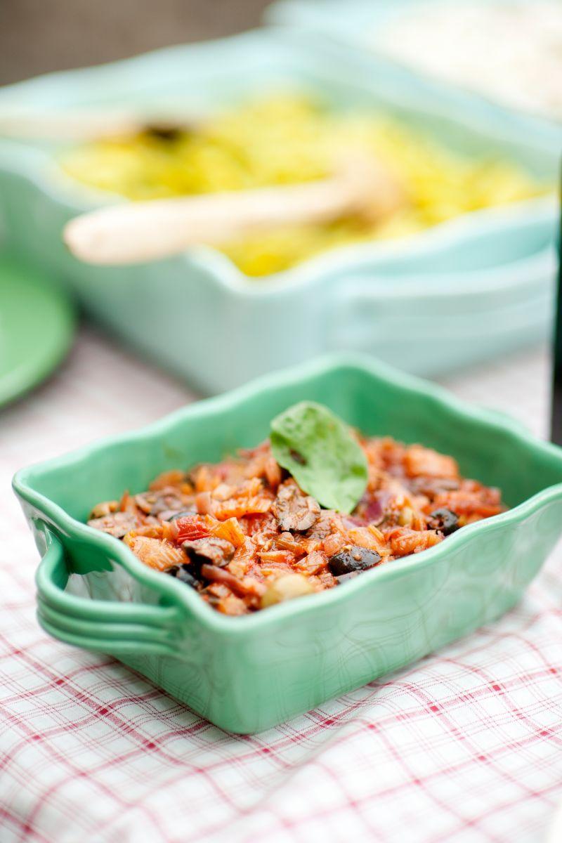 Recept 'caponata van krokante groentjes'