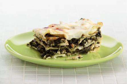 Lasagne met spinazie en gerookte kip